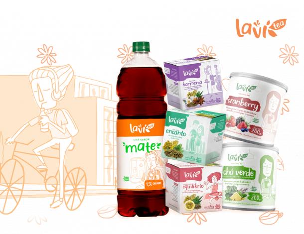 Chás Laví Tea chegam ao mercado com versões para preparo em água fria, pronto para beber e os tradicionais sachês