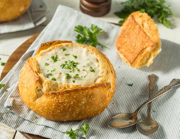 Delícias de inverno: Sopa no Pão